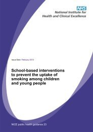 School-based interventions to prevent smoking - NCSCT