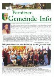 Ganzseitiger Faxausdruck - Pernitz