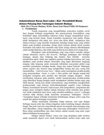 Industrialisasi Karya Seni Lukis : Dari Persefektif Bisnis Antara ...