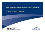 Bank of America Merrill Lynch Insurance Conference Endurance ...