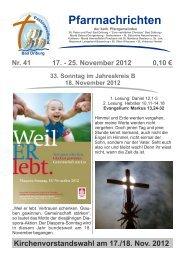 Nachrichten - Pastoralverbund Bad Driburg