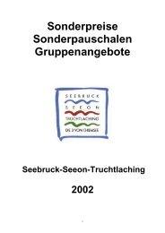 Sonderpreise Sonderpauschalen ... - Seeon - Seebruck