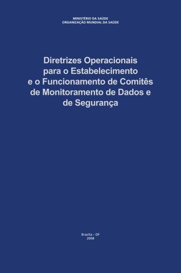 Diretrizes Operacionais para o Estabelecimento e o Funcionamento ...
