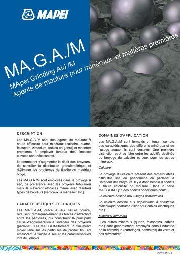MApei Grinding Aid/M Agents de mouture pour minéraux et matières ...