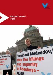 Rapport annuel 2009 . - Gesellschaft für bedrohte Völker