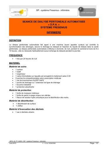 DP - système Fresenius - infirmière - HPCI