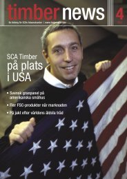 på plats i USA - SCA Forest Products AB