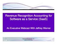 3/9/11 Webcast Slides - Tensoft