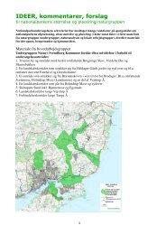 IDEER, kommentarer, forslag - Nationalpark Sydfyn