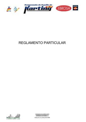 reglamento particular - Real Federación Española de Automovilismo