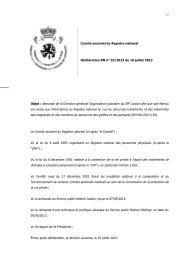 Vu la loi du 8 août 1983 organisant un Registre national des ...