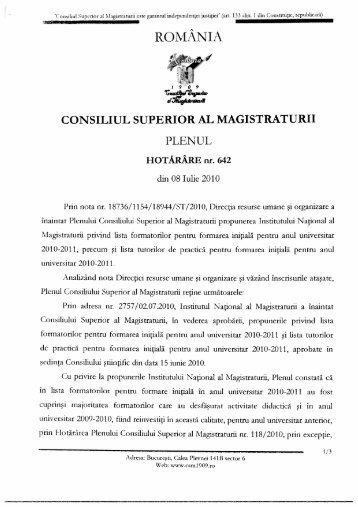 Hot.Plen aprobare formatori FI 2010-2011.pdf - Institutul Naţional al ...