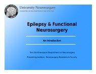 Epilepsy & Functional Neurosurgery - University Neurosurgery