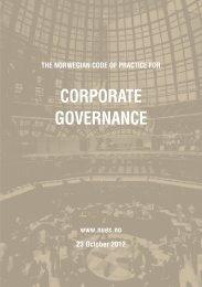 The Norwegian Code of Practice for Corporate Governance - Statoil