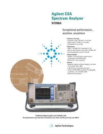 Agilent CSA Spectrum Analyzer - H TEST a.s.