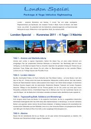 London Package 2011 - 4 Tage