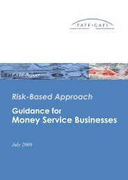 Risk-Based Approach – Guidance for Money Service Businesses