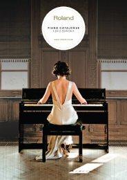 Roland Piano Catalogue 2012
