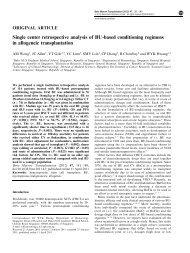 Single center retrospective analysis of BU-based conditioning ...