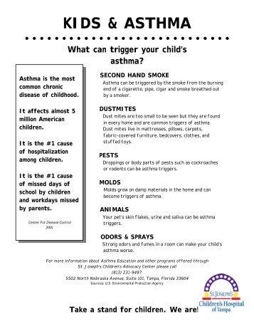 KIDS & ASTHMA - St.Joseph's Hospital