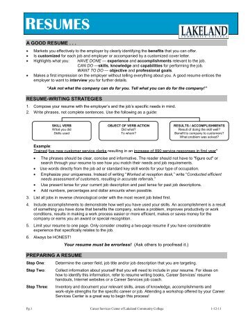 Download Our Handy Flyer Regarding The Basics Of Resume Writing.