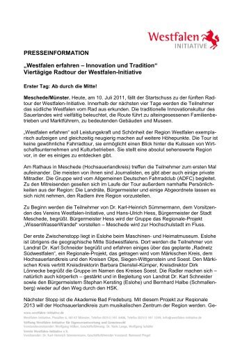 PRESSEINFORMATION - Westfalen Initiative