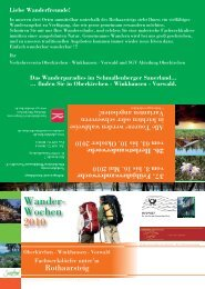 26. Herbstwanderwoche vom 3. bis 10. Oktober 2010 - Oberkirchen
