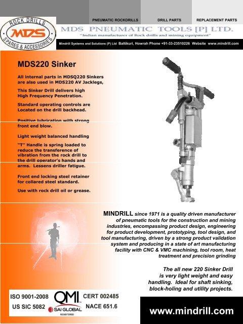 MDS220 Anti-Vibration Sinker PDF - Parts HeadQuarters Inc