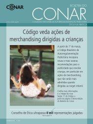 Código veda ações de merchandising dirigidas a crianças - Conar