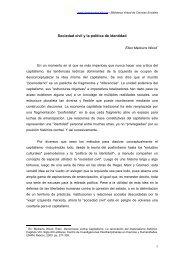 Sociedad civil y la política de identidad - Cholonautas