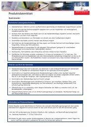 Produktdatenblatt - Klimarettung