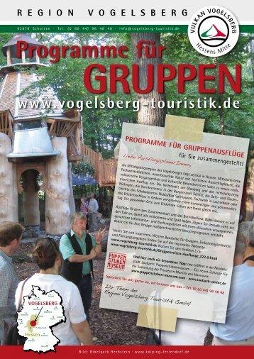 GASTRO-BETRIEBE FÜR GRUPPEN - Region Vogelsberg Touristik