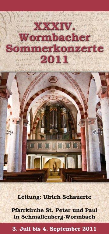 XXXIV. Wormbacher Sommerkonzerte 2011 - Schmallenberger ...