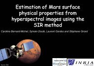Estimation of Mars surface physical properties from ... - Mistis