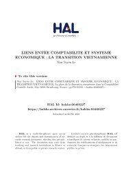 LIENS ENTRE COMPTABILITE ET SYSTEME ECONOMIQUE: LA ...