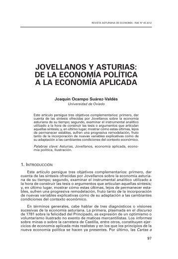 jovellanos y asturias - Revista Asturiana de Economia