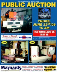 Preview & Inspection: Wed, June 21 from 9am - Maynards Industries