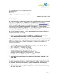 Letter - European Coalition for Corporate Justice