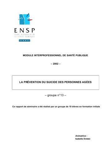 – groupe n°13 – - Banque de données en santé publique