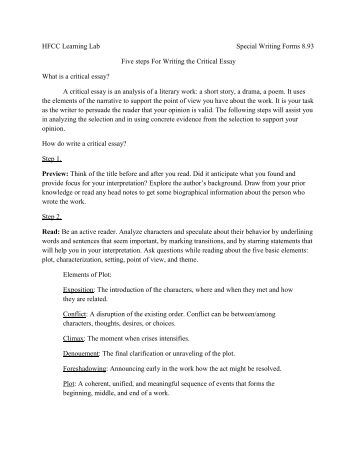 steps for writing a critical essay If you can follow these steps and answer these questions on the importance of taking a critical approach in your essay writing critical essay writing.