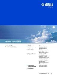 Annual Report 2002 (560 KB) - Vaisala