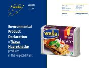 Wasa Havreknäcke - The International EPD® System
