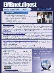 Data Analysis Training School, Wageningen, 10-14 ... - EMBnet