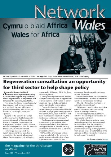 Regeneration consultation an opportunity for third sector to ... - WCVA