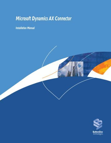 Microsoft Dynamics AX Connector - Bottomline Technologies
