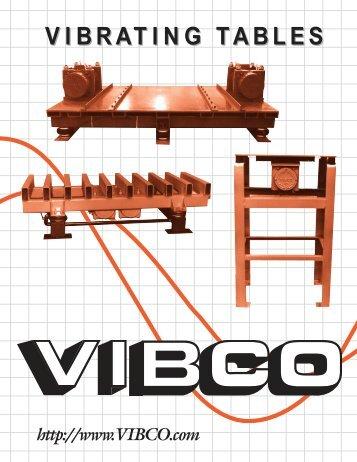 VIBRATING TABLE CATALOG - Vibco