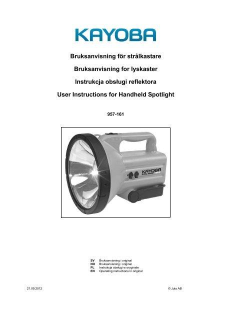 Instrukcja obsÃ…Â'ugi (469.4 KB - pdf) - Jula