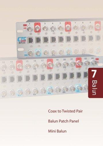 Balun Patch Panel