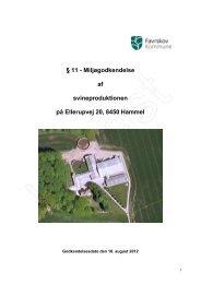 11 - Miljøgodkendelse af svineproduktionen på Ellerupvej 20, 8450