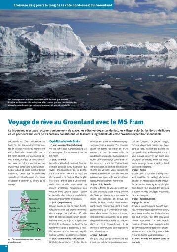 Voyage de rêve au Groenland avec le MS Fram